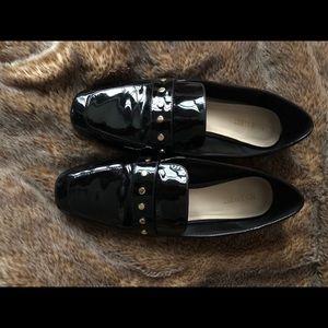 Nine West Black Gloss Loafers